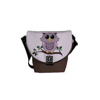 Pink Owl Mini Messenger Bag