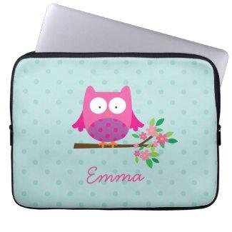 Owl Personalised Laptop Sleeve