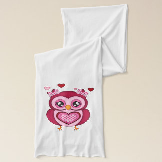 Pink Owl Scarf