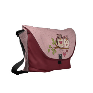 Pink Owl Sweethoots Messenger Bag