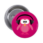 Pink Owl With Headphones