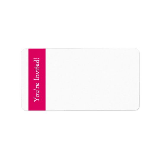 """Pink Owl """"You're Invited"""" Address Labels"""