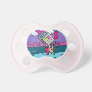 Pink Pacifier or Dummy for baby girl 0-6mths