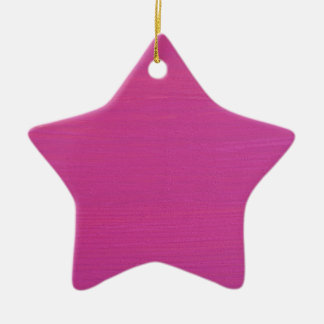 Pink painted wood ceramic star decoration