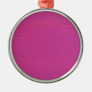 Pink painted wood Silver-Colored round decoration
