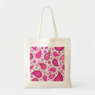 Pink Paisley Budget Tote Bag