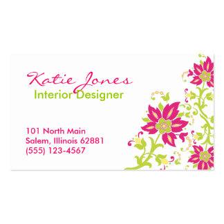 Pink Paisley Business Card