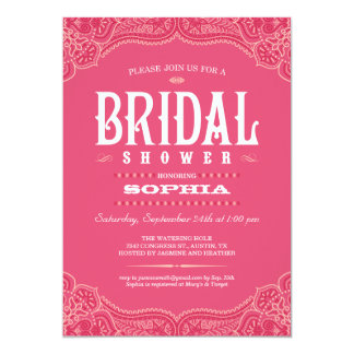 Pink Paisley Cowgirl Bridal Shower Invitations