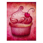 Pink Paisley Cupcake Post Cards