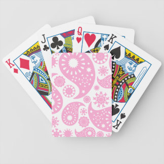 Pink Paisley Design. Bicycle Playing Cards