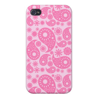 Pink Paisley. iPhone 4/4S Cases