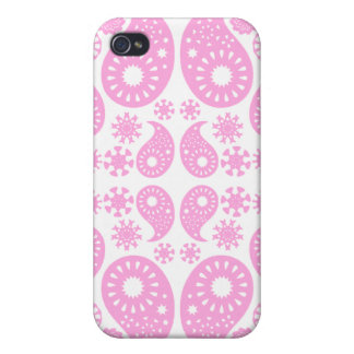 Pink Paisley. iPhone 4 Cover