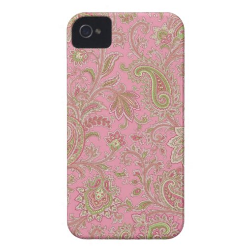 Pink Paisley iPhone Case Case-Mate iPhone 4 Case
