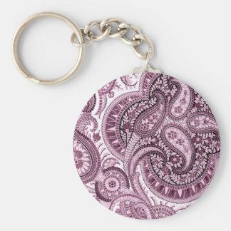 Pink Paisley Key Ring