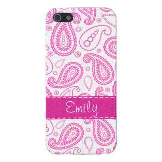 Pink Paisley Pattern iPhone 5 Cases