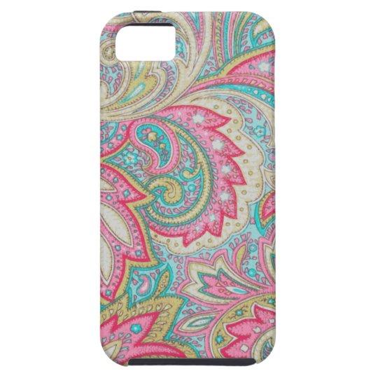 Pink Paisley Tough iPhone 5 Case