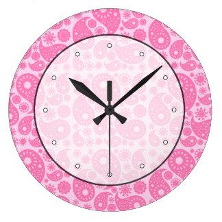 Pink Paisley. Wallclocks