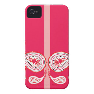 Pink paisleys Case-Mate iPhone 4 cases