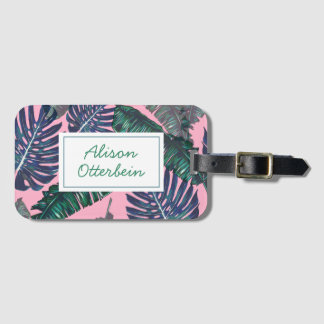 Pink & Palm Luggage Tag