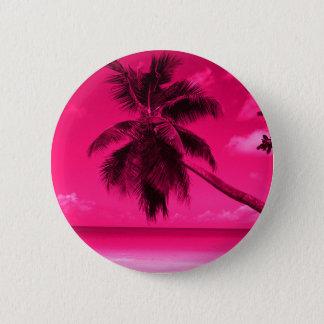 Pink Palm Tree 6 Cm Round Badge
