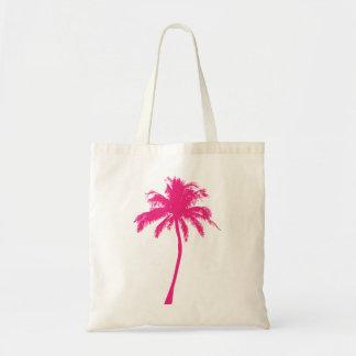 Pink Palm Tree Tote Bag