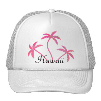 Pink Palm Trees Hawaii Cap