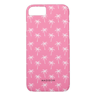 Pink Palm Trees Pattern iPhone 8/7 Case
