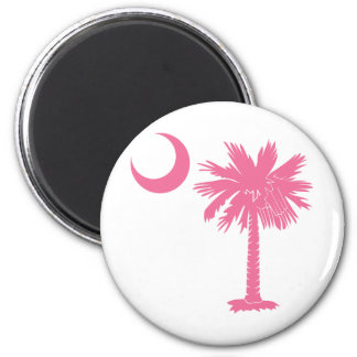 Pink Palmetto Magnet