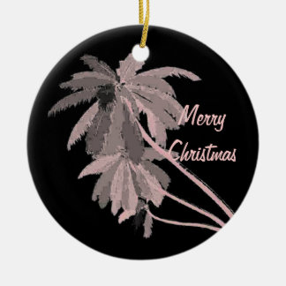 Pink Palms Christmas Ornament