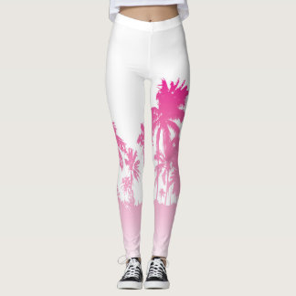 Pink Palms Leggins Leggings