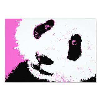 pink panda 9 cm x 13 cm invitation card