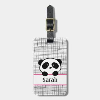 Pink Panda Bear Luggage Tag