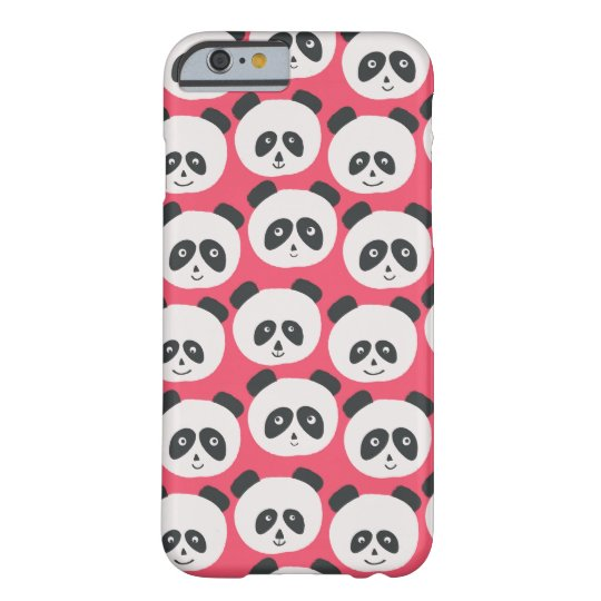 Pink Panda Bear Pattern Barely There iPhone 6