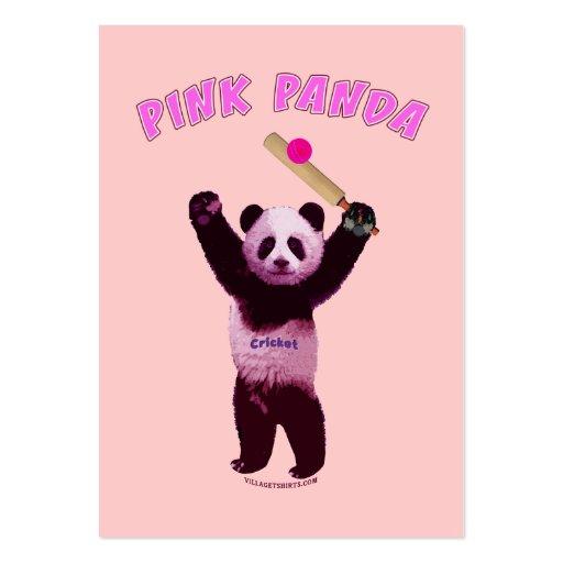 Pink Panda Cricket Business Card