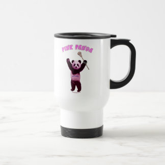 Pink Panda Lacrosse 15 Oz Stainless Steel Travel Mug