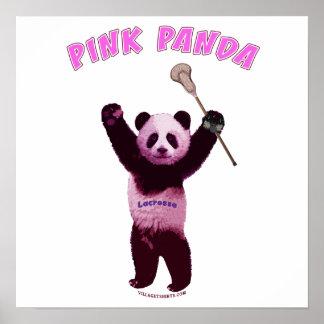 Pink Panda Lacrosse Print