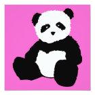 pink panda plush card