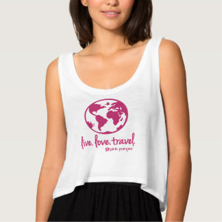 Pink Pangea, Live Love Travel Tank