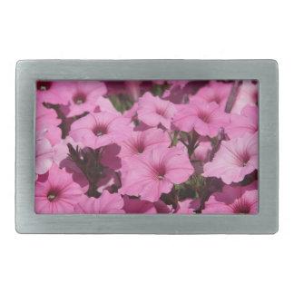 pink pansy rectangular belt buckles