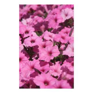 pink pansy stationery