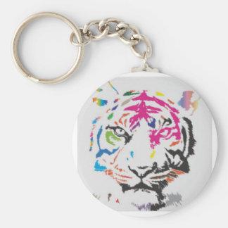 Pink Panther Madness Basic Round Button Key Ring