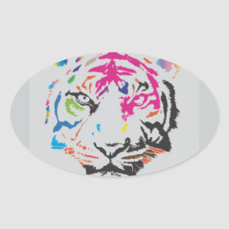 Pink Panther Madness Oval Sticker