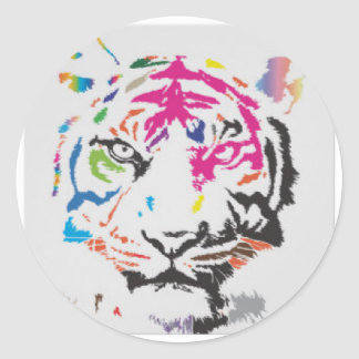 Pink Panther Madness Round Sticker