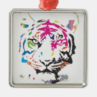Pink Panther Madness Silver-Colored Square Decoration