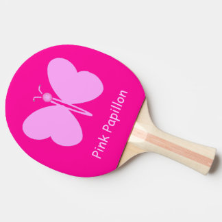 Pink Pappillon Ping Pong Paddle