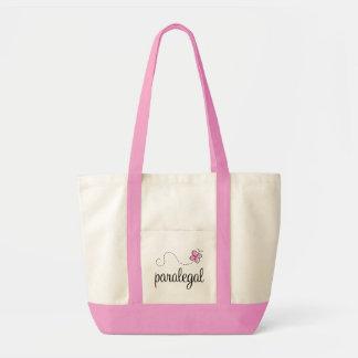 Pink Paralegal job design Tote Bag