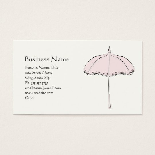 Pink Parasol Business Card