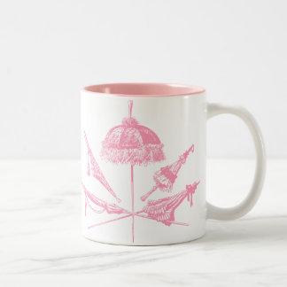 Pink Parasols Mugs