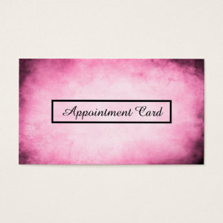 pink parchment appointment reminder business card
