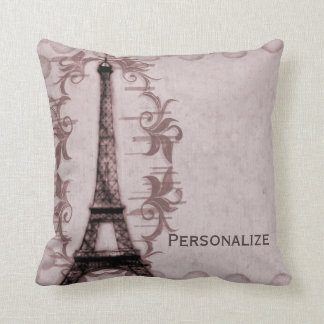 Pink Paris Grunge American MoJo Pillow